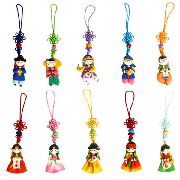 칼라믹스핸드폰줄 10개/한국기념품외국인선물스푼수저 상품이미지
