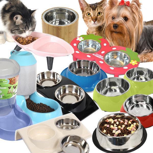 다양한 애견식기 식탁 /기능성 강아지식기 물병식기 상품이미지