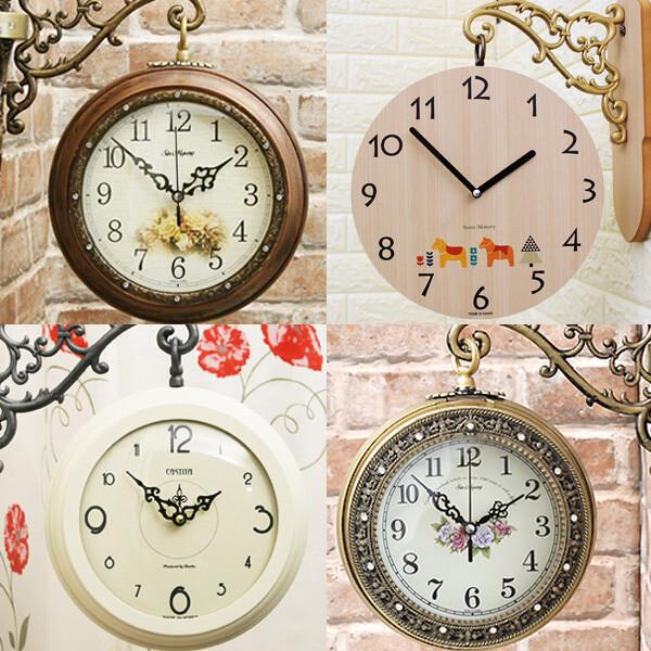무소음 양면시계 인테리어벽시계 엔틱소품 집들이선물 상품이미지