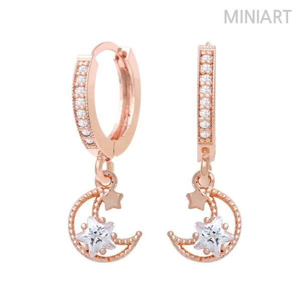 (현대Hmall) 미니아트  로즈골드 14K Gold-pin 귀걸이 MS185 상품이미지