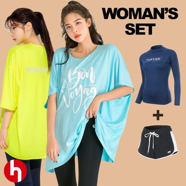 여성 수영복 래쉬가드 비치웨어 팬츠 보드숏 비키니 상품이미지