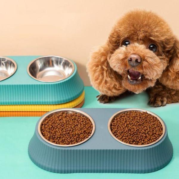 강아지 급수기 급식기 실리콘클린더블보울 인디언레 상품이미지