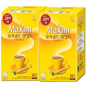 맥심 모카골드 커피믹스 320T +썸머 비치타월 증정