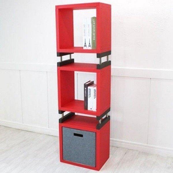 RED MS 공간박스 3단 수납 선반 큐브 공간박스 상품이미지