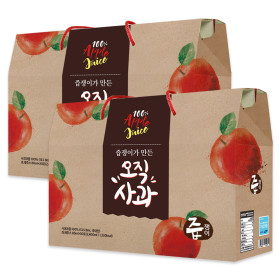 jeupjaeng-i Apple Juice 2 boxes 60 pouches apple squeeze 100%