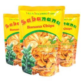 3봉 사바나나칩 방송소개 바삭바삭 간식 과자