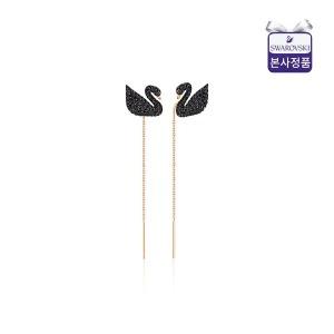[스와로브스키](롯데백화점)[블랙스완] 스와로브스키 Iconic Swan Long 이어링 5351805