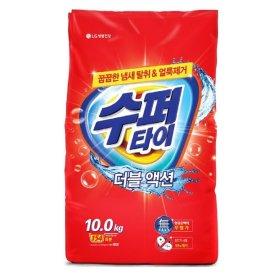 (행사상품)H LG생활건강_수퍼타이더블액션세탁세제 겸용 _10KG