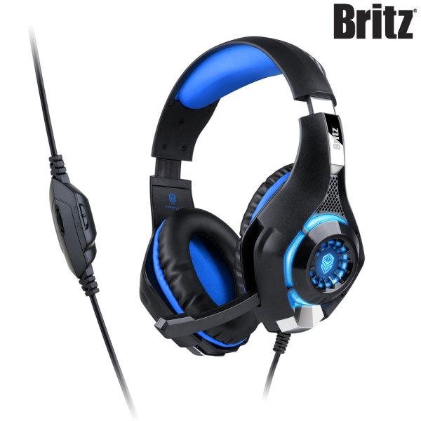 브리츠 K35GH PC 컴퓨터 LED 게이밍 헤드셋 블루 ㅡ 상품이미지