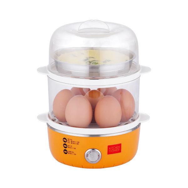 키친플라워 에그플러스 쿠커 찜기 계란 전기 슬로우 상품이미지
