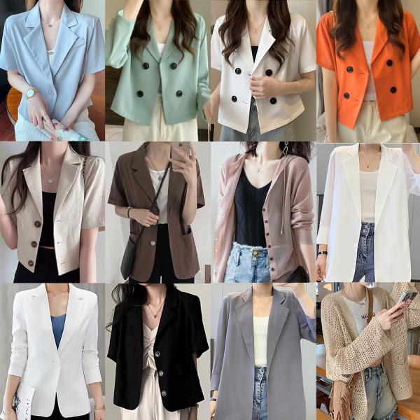 (도도한걸)정장자켓/여성정장/체크자켓/하프자켓 상품이미지