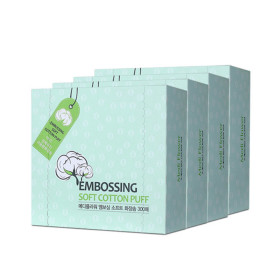 엠보싱 소프트 화장솜 300매 1+1 +1/총 900매/순면