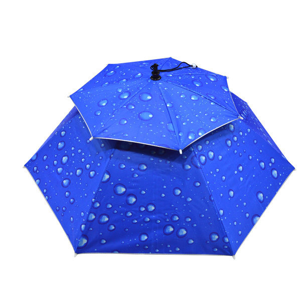 모자 우산/낚시우산/양산/머리우산/햇빛차단 2중 일반 상품이미지