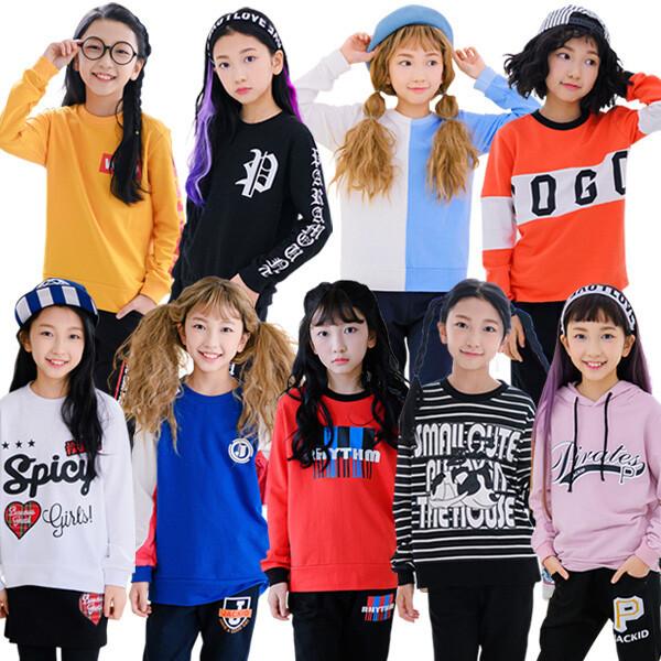 주니어 여아 면티 가을 맨투맨티 초등학생 옷 의류 상품이미지