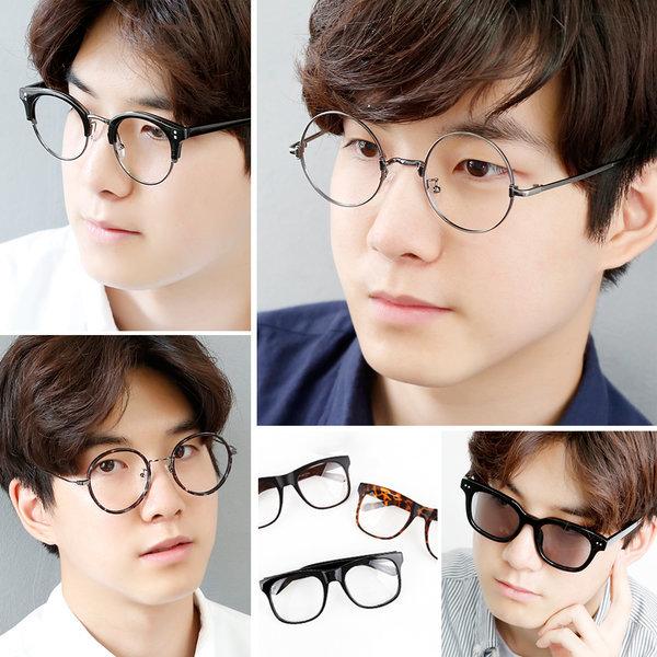 안경 남자 여자 뿔테 하금테 동그란 안경테 패션 메탈 상품이미지