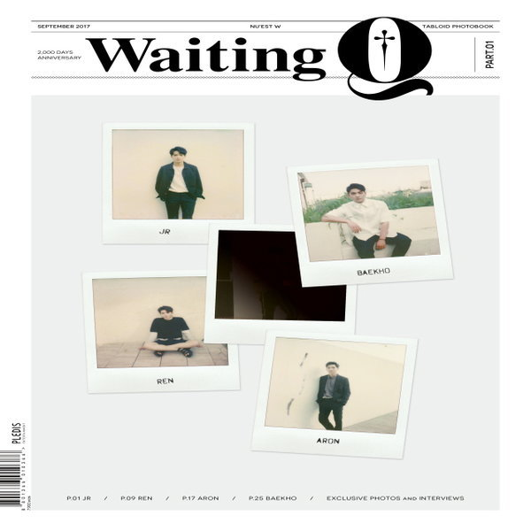 (2차 예판) 뉴이스트W 화보집 - Waiting Q / 9월 11일 발송 / 포토카드 8종 중 1종 랜덤 / 반품불가 상품이미지