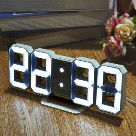 the Sweet 3D LED Wall Clock Table Clock Noiseless Alarm Clock Mini