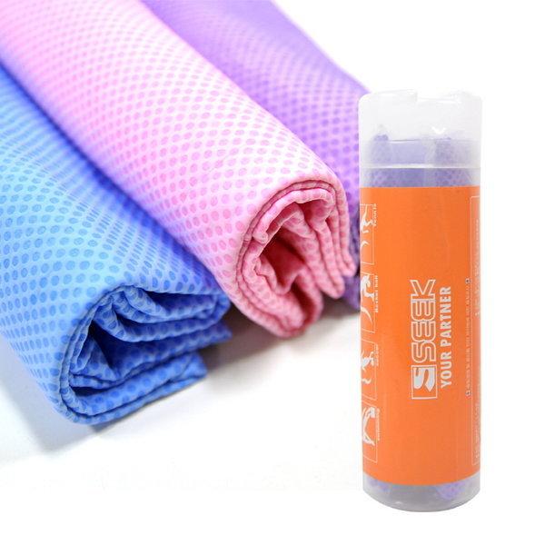SEEK 프리미엄 엠보싱 습식 대형 PVC 스포츠타올 퍼플 상품이미지