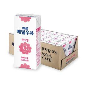 무지방 0% 멸균우유 200ml x24팩 /우유