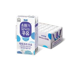[매일우유]소화가잘되는 멸균우유 190ml 24팩 /우유/매일