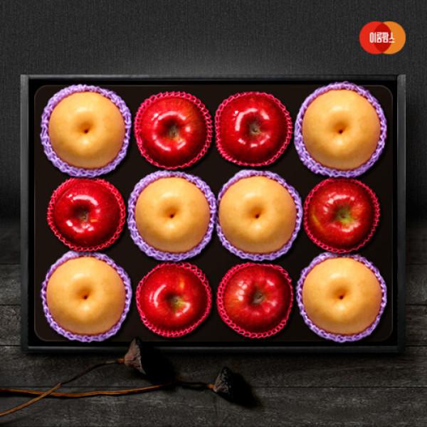 AK단독  한가족 사과.배 혼합세트 6kg(사과6입+신고배6입) 상품이미지