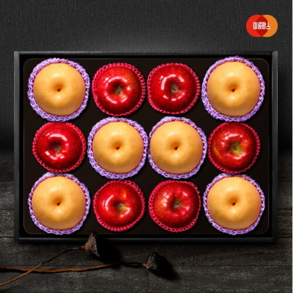 AK단독  한가족 사과.배 혼합세트 5kg(사과6입+신고배6입) 상품이미지