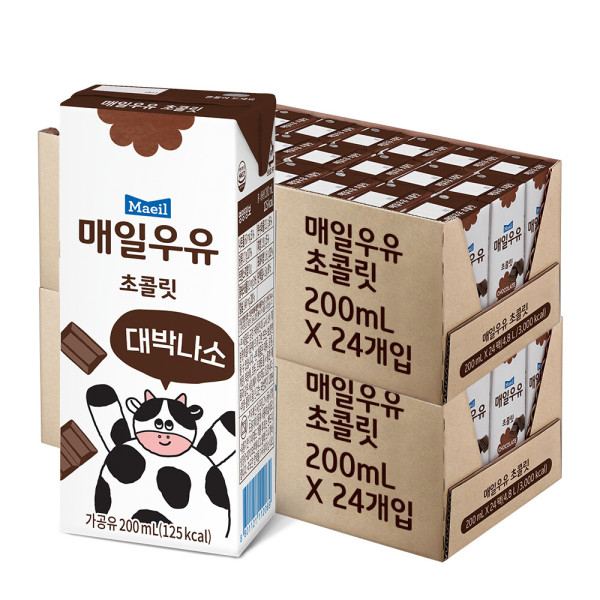 초코 멸균우유 200ml 48팩 /우유/매일 상품이미지