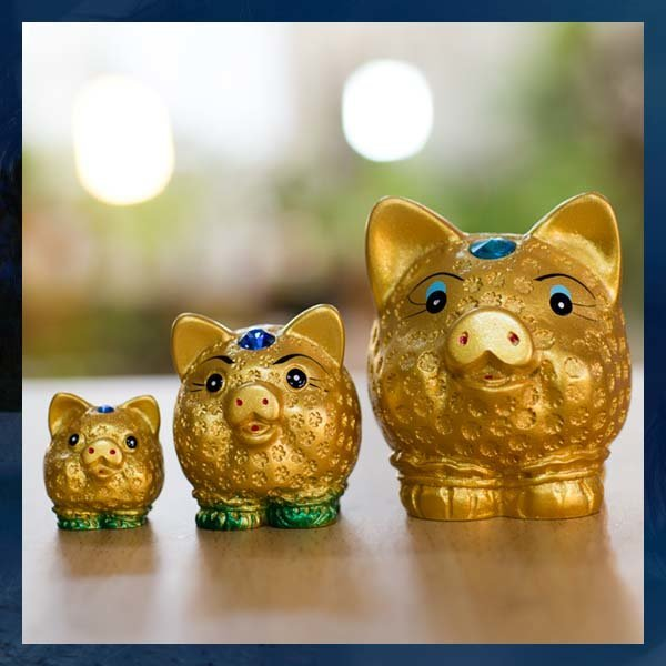 A265/돼지인형/소중대/황금복돼지/부귀/행운 상품이미지