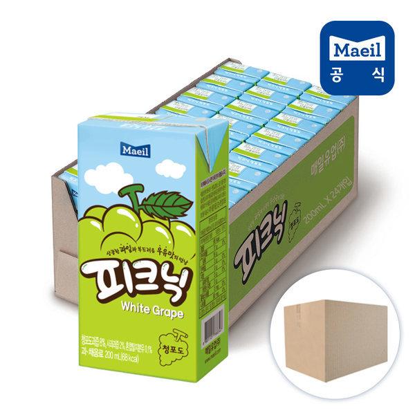 피크닉 청포도 200ml 24팩 /음료수/쥬스/주스 상품이미지