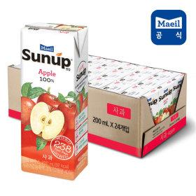 썬업100% 사과주스 200ml 24팩 /주스/음료수
