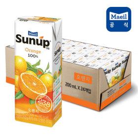썬업100% 오렌지주스 200ml 24팩 /주스/음료수