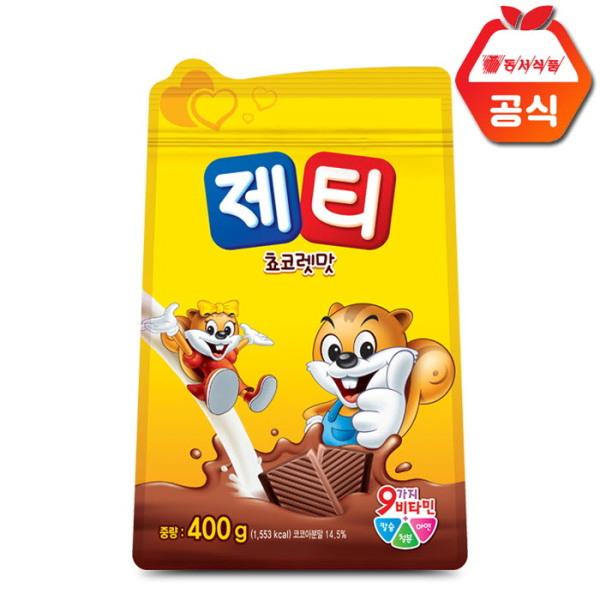 제티 쵸코렛맛 400g 리필(지퍼백) /코코아/핫쵸코 상품이미지