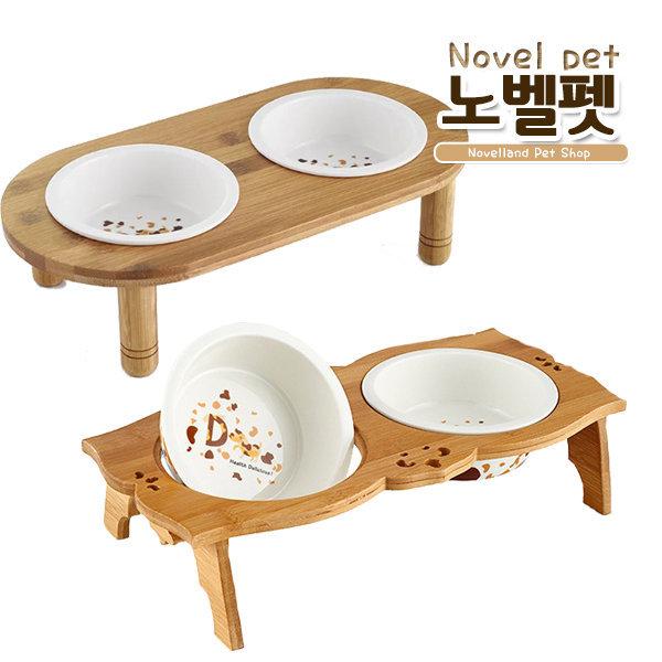 엔틱 세라믹 고양이 강아지 개밥그릇/애견간식용품/옷 상품이미지