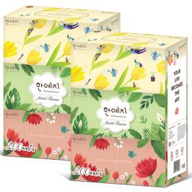 한예지 ART 천연펄프 미용티슈 200매 6입/각티슈