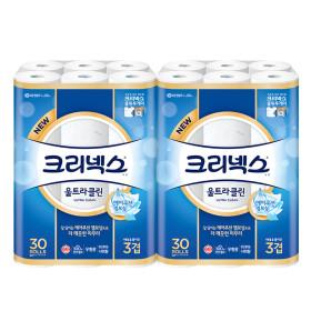 울트라클린 27M30롤x2팩/화장지/휴지 +본품증정