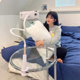 스마트폰 핸드폰 침대 자바라 거치대 (85cm 핑크)