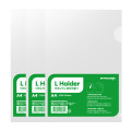 오피스존 클리어홀더 투명 A4 10매 화일 간지화일 L자