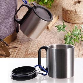 스텐머그컵 등산용 캠핑용 휴대용 보온 보냉 뚜껑 컵
