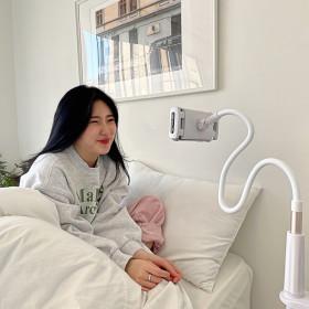 스마트폰 핸드폰 침대 자바라 거치대 (125cm 블루)