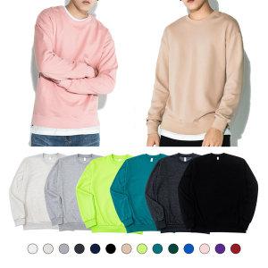 맨투맨 후드티 남성/여성 무지/기모/오버핏 티셔츠