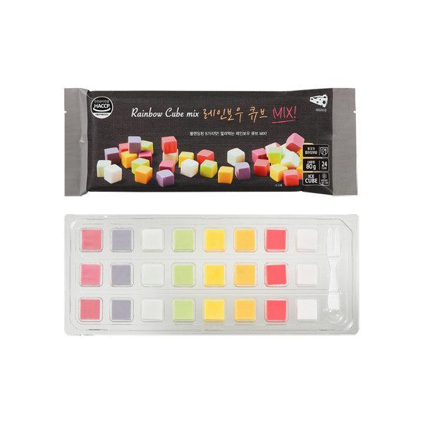 레인보우과일 큐브MIX 8가지맛 블랙 과일큐브치즈 상품이미지