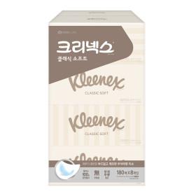 클래식 미용티슈 180매 8개입/휴지