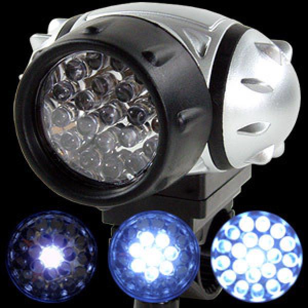 슈퍼브라이트 21구 LED 자전거 라이트 / 3단계 불빛조절 + 깜박깜박 점멸기능 + 생활방수 /후레쉬자전거용 상품이미지