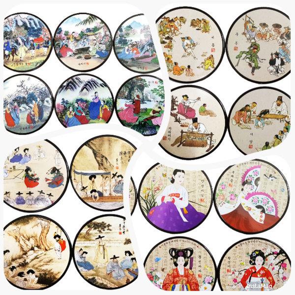 코스타 컵받침셋/해외여행한국전통기념품외국인선물 상품이미지