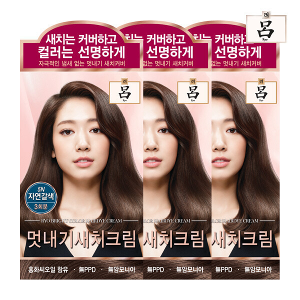 (현대Hmall)려 자양윤모 새치커버 / 우아채 멋내기 크림 3입 상품이미지