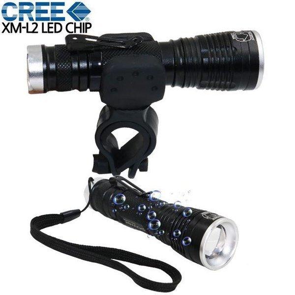 LED 충전식 자전거라이트 자전거 전조등 후레쉬 손 상품이미지