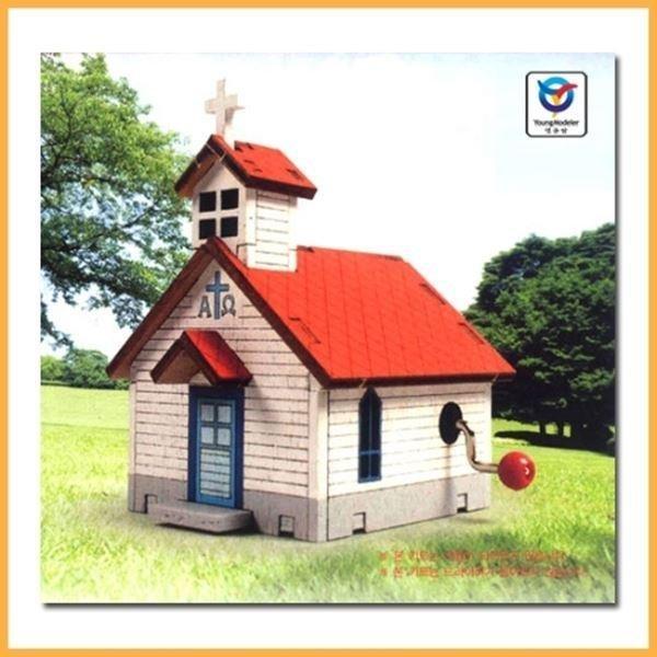 영공방 목재모형 오르골교회 A형 (YM862-1) 상품이미지