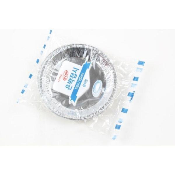 10p 롯데 은박접시 실속형 18cm 접시 은박지 일회용 상품이미지
