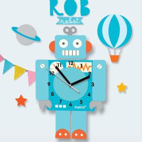 어썸프렌즈/움직이는추시계(공룡)/무소음벽시계프랜즈