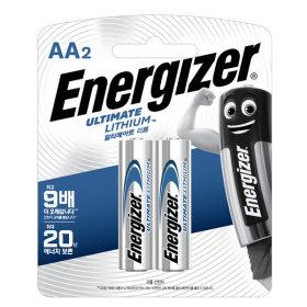 에너자이저 얼티메이트 리튬 AA 2입 건전지